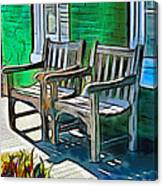 Seating For Two Canvas Print