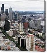 Seattle From The Needle Canvas Print