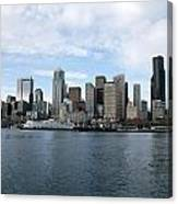 Seattle From The Water Canvas Print