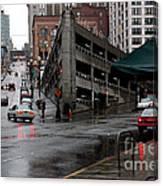 Seattle Parking Garage Orig Canvas Print