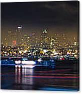 Seattle Skyline Firework Panorama Canvas Print