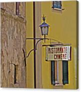 Secluded Restaurant Of Tuscany Canvas Print