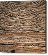 Sedimentary Structures In Sand Beds Canvas Print