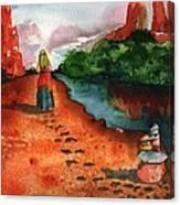 Sedona Arizona Spiritual Vortex Zen Encounter Canvas Print