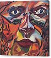 Self Portrait - Map Of Life Canvas Print