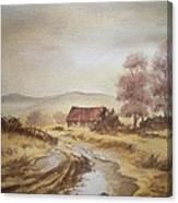Selo Poslije Kise Canvas Print