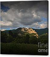 Seneca Rocks At Evening Canvas Print