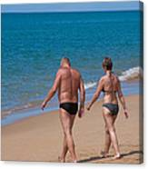 Senior Elderly  Lover Couple Canvas Print