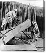 Seoul Korea - Men Sawing Lumber Canvas Print
