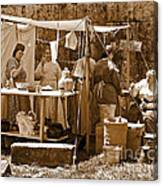 Sepia Historical Reenactment Canvas Print