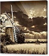 Sepia Sky Windmill Canvas Print