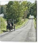September Roads Canvas Print
