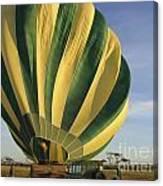 Serengeti Hot Air Baloon Inflating Canvas Print