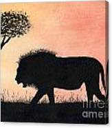 Serengeti Sunset Canvas Print