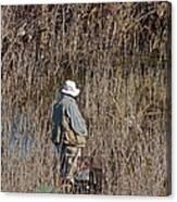 Serious Fisherman Canvas Print