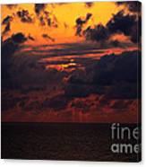 Setting Sun At South Beach Canvas Print