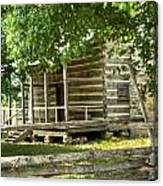 Settlers Cabin And Crosstie Fence 4 Canvas Print