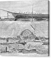 Sevastopol: Diver, 1858 Canvas Print