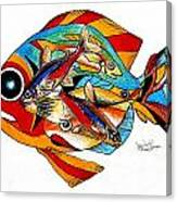 Seven Fish Canvas Print