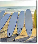 Seven Surfboards Canvas Print