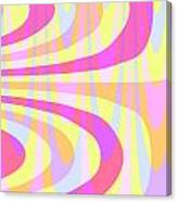 Seventies Swirls Canvas Print