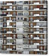 Several Buildings Housing Canvas Print