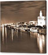 Sevilha By The River Canvas Print