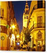 Sevilla At Night Canvas Print