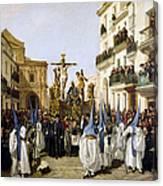 Seville: Good Friday, 1862 Canvas Print