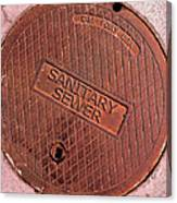 Sewer Cover Canvas Print
