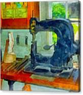Sewing Machine In Harness Room Canvas Print