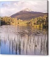 Sgurr Na Lapaich From Loch Salach A Ghiubhais In Glen Affric Canvas Print