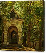 Shaded Chapel. Golden Green Series Canvas Print