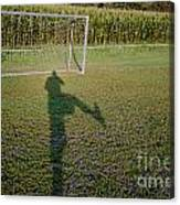 Shadow From A Football Player Canvas Print