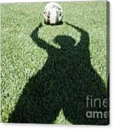 Shadow Playing Football Canvas Print
