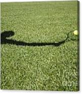 Shadow Playing Tennis Canvas Print