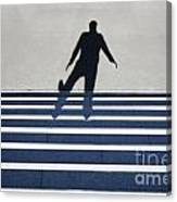 Shadow Walking The Stairs Canvas Print