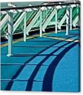 Shadows And Railings Canvas Print
