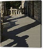 Shadows Cast On The Porch Of Gillette Canvas Print