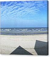 Shadows Utah Beach Canvas Print
