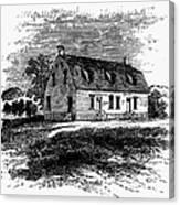 Shaker Church, 1875 Canvas Print