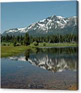 Shallow Water Reflections Canvas Print
