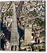 Shard London Aerial View Canvas Print