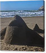Shark Sand Sculpture Canvas Print