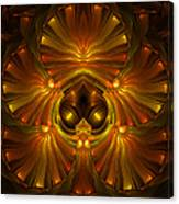 Shattered Five Leaf Clover Abstract Canvas Print
