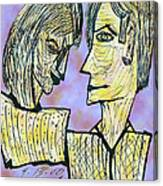 She And He Pen And Ink 2000 Digital Canvas Print