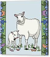 Sheep Artist Sheep Art Canvas Print