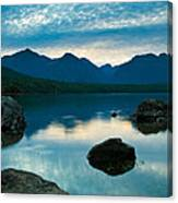 Sheep Clouds Above  A Lake  Canvas Print