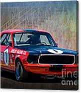 Shelby Racing Co Mustang Canvas Print