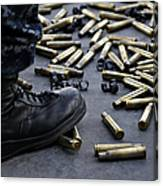 Shell Casings From A .50 Caliber Canvas Print
